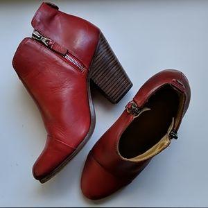 Rag & Bone red ankle booties